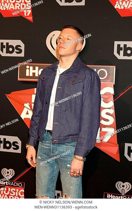 2017 iHeart Music Awards at the Forum on March 5, 2017 in Los Angeles, CA Featuring: Macklemore, aka Ben Haggerty Where: Los Angeles, California