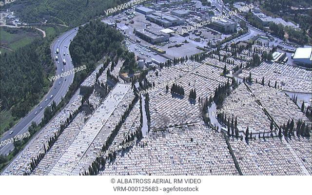 Aerial HD shot Jerusalem Entrance