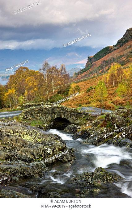 Picturesque Lakeland scenery at Ashness Bridge, Lake District National Park, Cumbria, England, United Kingdom, Europe
