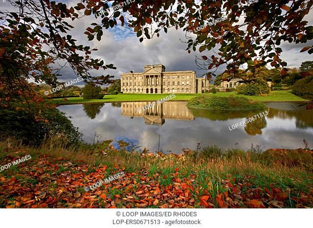 Lyme Hall at Lyme Park in Autumn