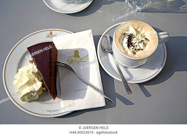 Vienna Austria Cafe Mozart chocalate cafe Melange