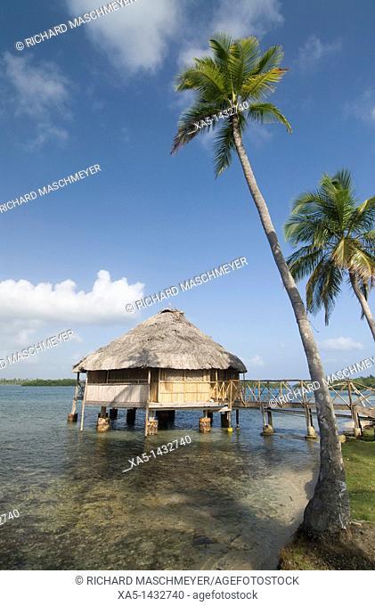 Over the water hut, Yandup Island, San Blas Islands also called Kuna Yala Islands, Panama