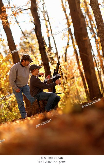 Father And Son Squirrel Hunting