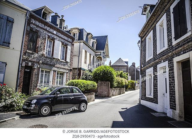 Center of Etretat town, France