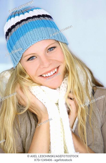 woman portrait winter