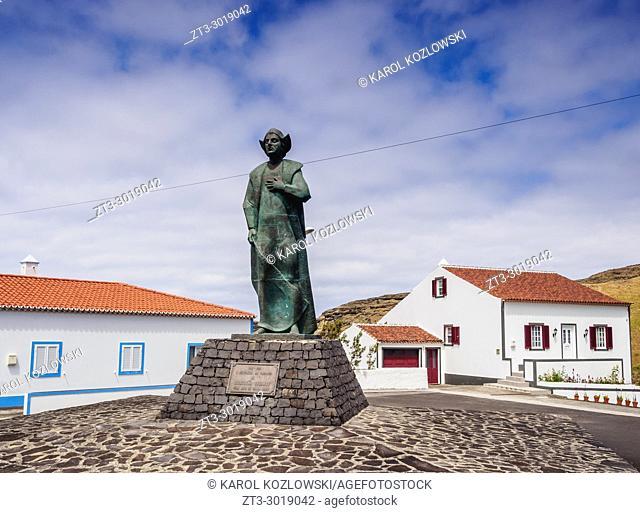 Statue of Columbus, Anjos, Santa Maria Island, Azores, Portugal