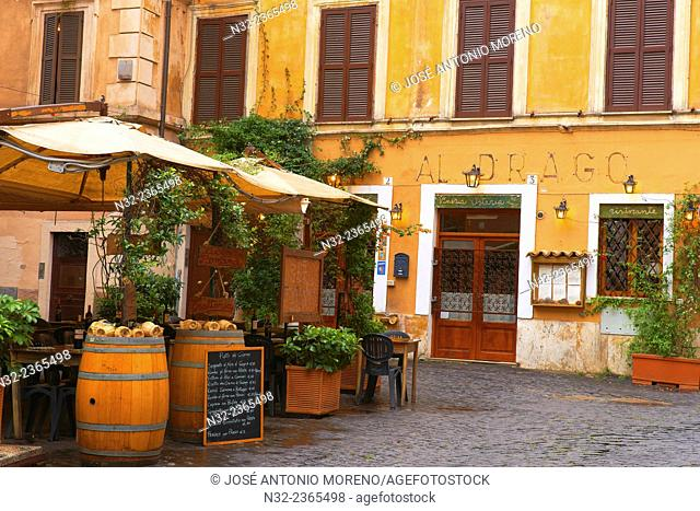 Trastevere, Bar, Trastevere District, Rome, Lazio, Italy