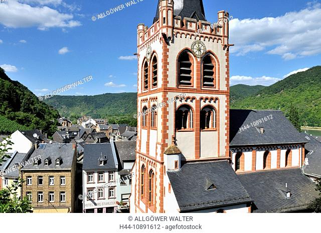 Bacharach, Germany, Europe, Middle Ages, Rhine Valley, Rhineland-Palatinate, UNESCO, world heritage, church, Peter's church