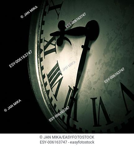 Abstract dark clock detail background