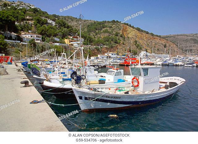 Spain Valencia Region (La Comunidad Valenciana) Alicante Province Costa Blanca Javea (Xabia) Fishing Harbour