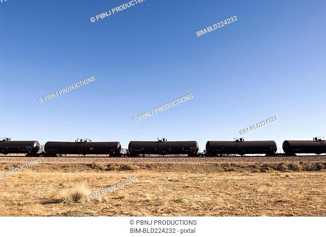 Row of oil trains
