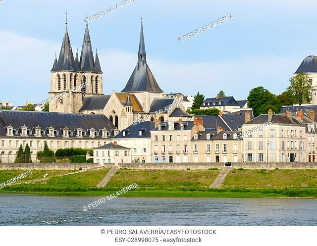 view of the old city of Blois, Loire Valley, France