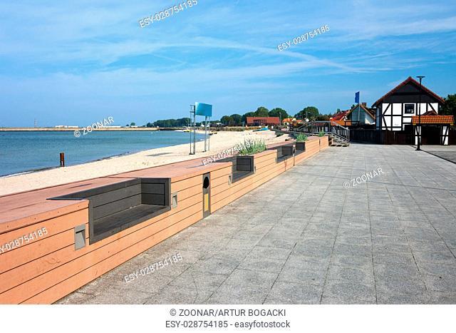 Hel Town Baltic Sea Promenade in Poland