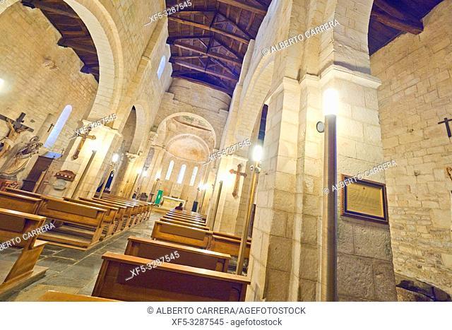 Basilica of San Martiño de Mondoñedo, 9-12th Century Romanesque Style, Foz, Lugo, Galicia, Spain, Europe