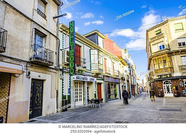 Fernández Cadórniga street. La Bañeza, Leon, Castilla y Leon, Spain, Europe