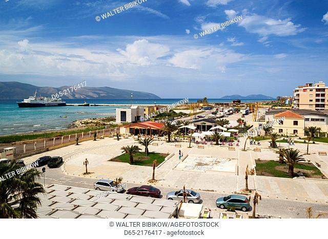 Albania, Vlora, view of the port