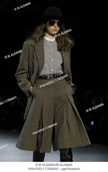 CELINE runway show during Paris Fashion Week, AW19, Autumn Winter 2019 collection - Paris, France 01/03/2019   usage worldwide. - Paris/France
