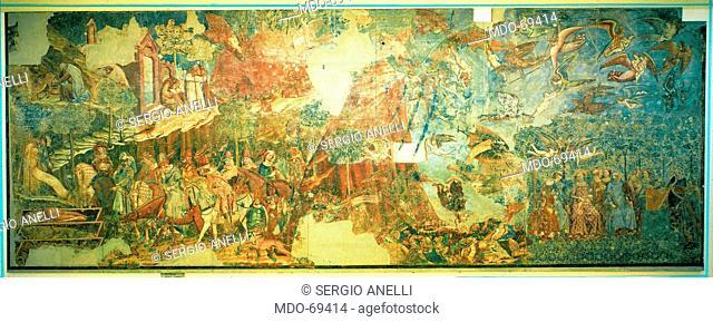 The Triumph of Death (Il Trionfo della Morte), by Buonamico di Martino known as Buffalmacco, 1336, 14th Century, fresco, 560 x 1500 cm