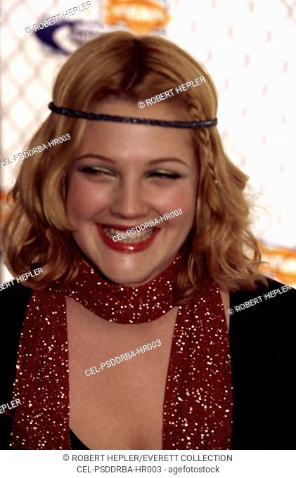 Drew Barrymore at the Nickelodeon Awards, May, 1999
