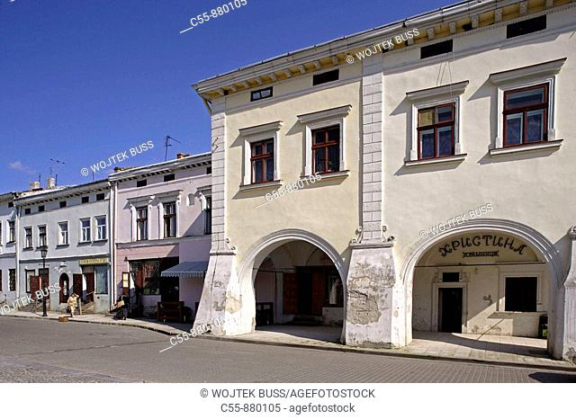 Zhovkva,Zolkiew,Old town,Market square,typical houses,Lviv/Lvov Oblast,Western Ukraine