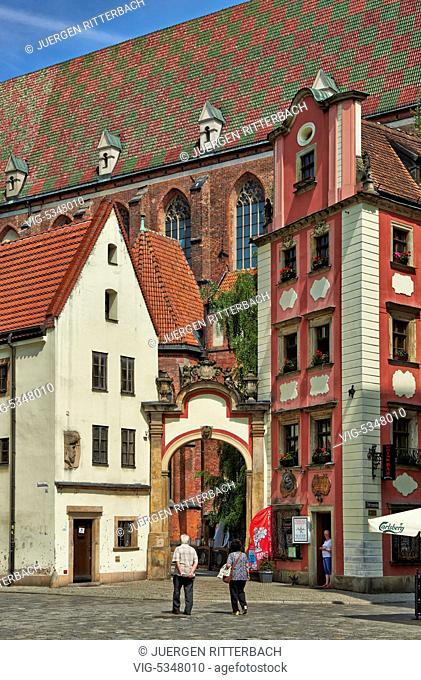 Hansel and Gretel houses, Market Square or Ryneck of Wroclaw, Lower Silesia, Poland, Europe - Wroclaw, Poland, 26/06/2015