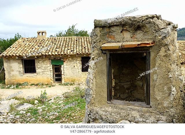 Village of Juvees De Dalt, near Benimaurell, Vall de Laguar, Marina Alta, Alicante, Valencia, Spain