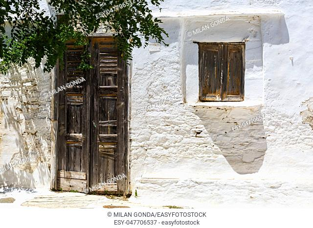 Old architecture in Artemonas village on Sifnos island in Greece.