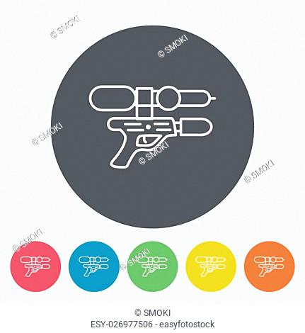 Gun toy icon. Thin line flat vector related icon for web and mobile applications. It can be used as - logo, pictogram, icon, infographic element