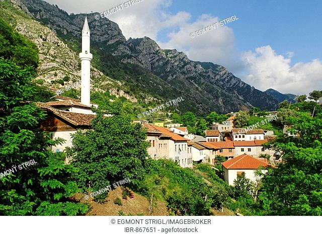 Mosque in the Skanderbeg city of Kruje, Albania, Europe