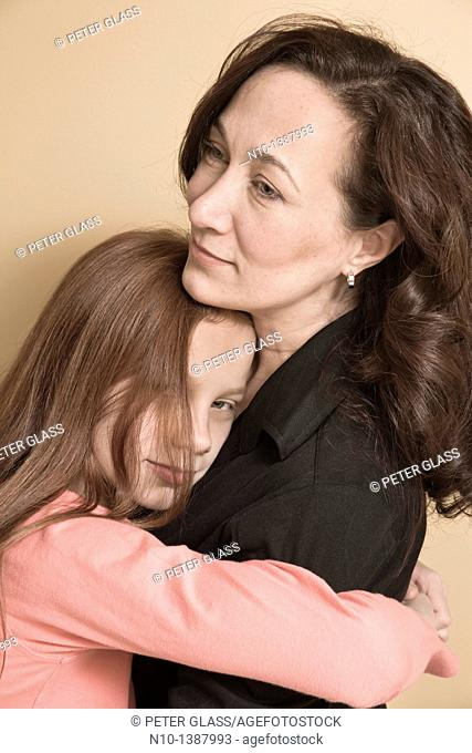 Preteen girl and her mother