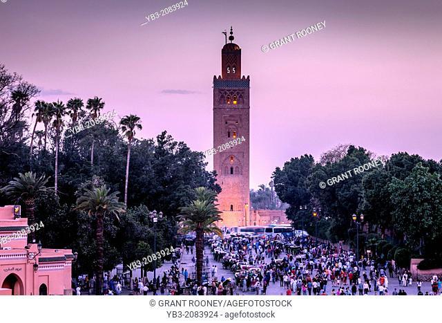 The Koutoubia Mosque, Marrakech, Morocco
