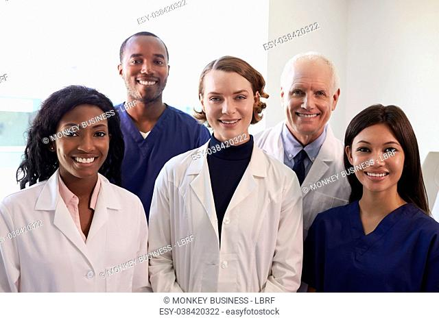 Portrait Of Medical Staff In Hospital Exam Room