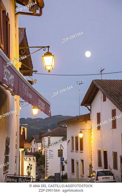 Itxaussu is a picturesque village in the Basque country France. Nightscape