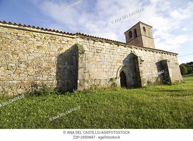 Lierganes village in Cantabria Pasiegos valley Spain St Pantaleon chapel
