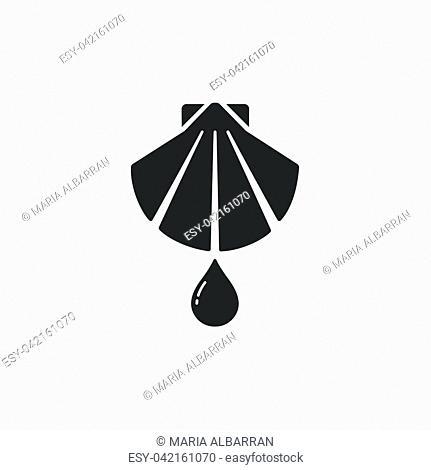 Baptism flat icon on a white background. Vector illustration