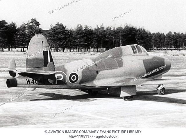 Royal Air Force RAF Gloster E28/39 Prototype Parked with Trees Behind