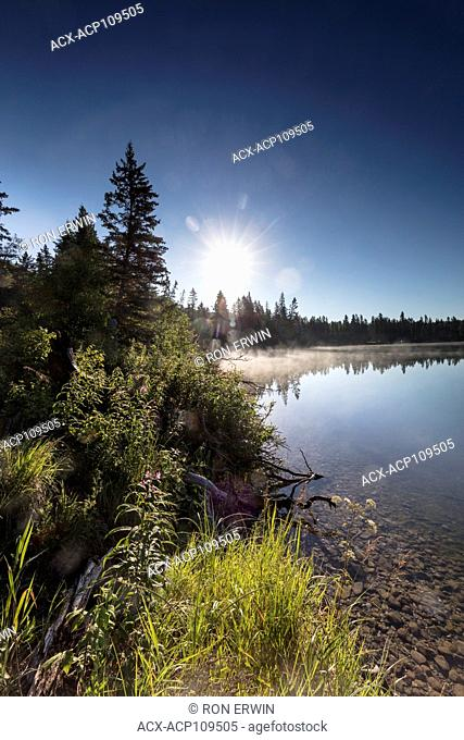Clear Lake at the Glen Beag picnic grounds in Riding Mountain National Park, Manitoba, Canada