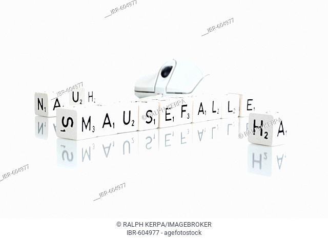 Letter dice - Mausefalle (mousetrap)