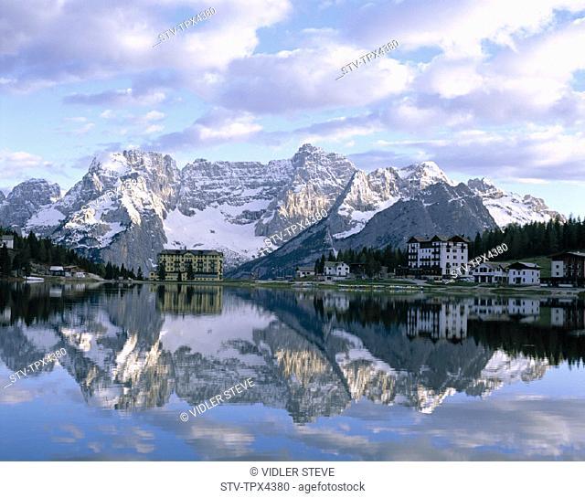 Dolomites, Dolomiti, Holiday, Italy, Europe, Lago, Lake, Landmark, Misurina, Mountains, Peaks, Sorapiss, Tourism, Travel, Trenti