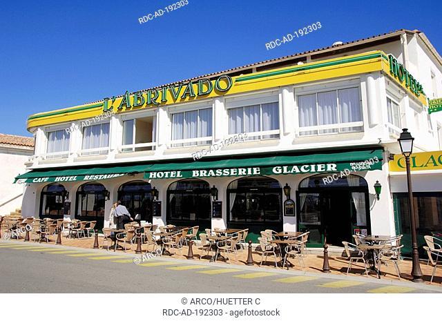 Restaurant 'L'Abrivado', Les Saintes-Maries-de-la-Mer, Camargue, Bouches-du-Rhone, Provence-Alpes-Cote d'Azur, Southern France