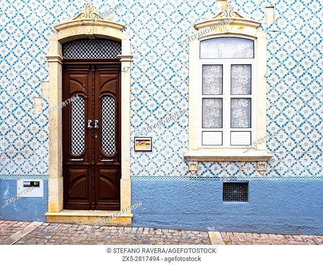 House front in Albufeira - Algarve region, Portugal