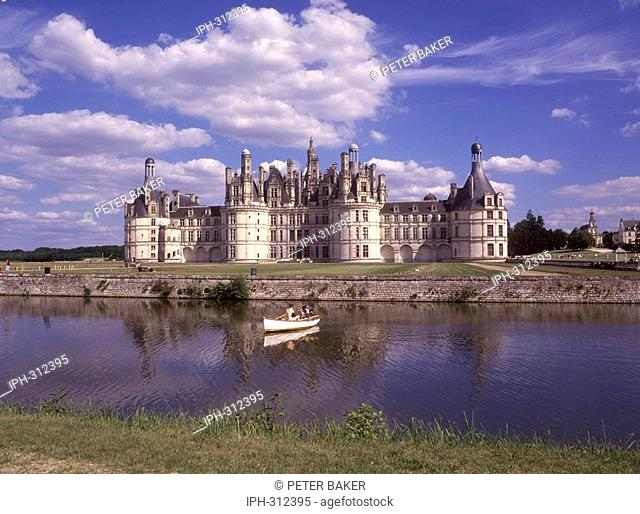 Chateau de Chambord, the largest chateau in the Loire Valley
