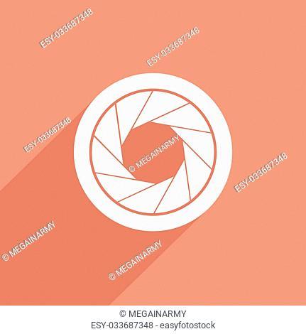 film camera web flat icon illustration