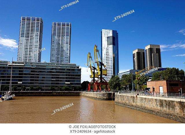 Puerto Madero dock 4 and madero center Buenos Aires Argentina