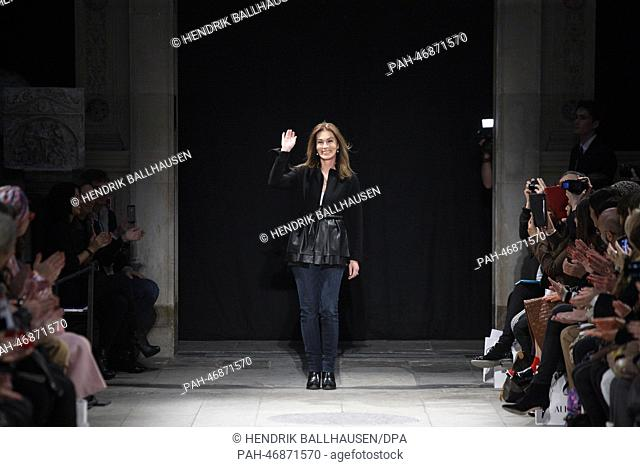 German designer Andrea Karg presents Allude fall winter 2014  2015  collection during the Paris c9634546ee4