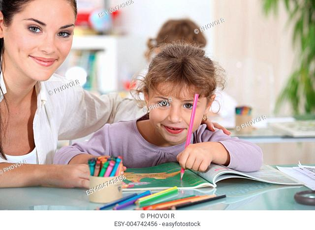 little girl at preschool