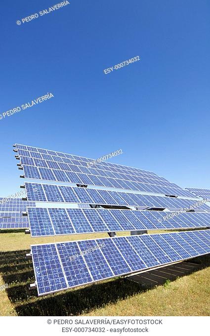 photovoltaic panel for renewable electric energy production in Sádaba, Saragossa, Aragón, Spain