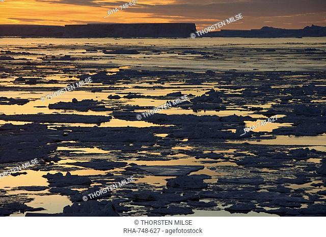 Pack ice, Antarctic Peninsula, Weddell Sea, Antarctica, Polar Regions