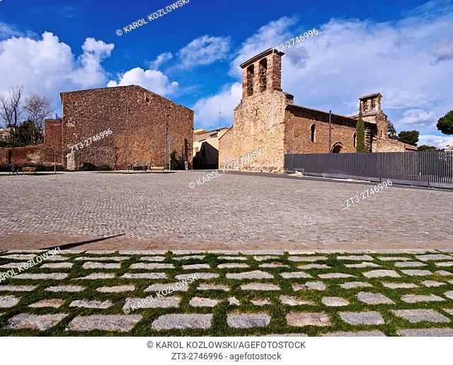 Spain, Catalonia, Barcelona Province, Terrassa, View of the Churches of Sant Pere.