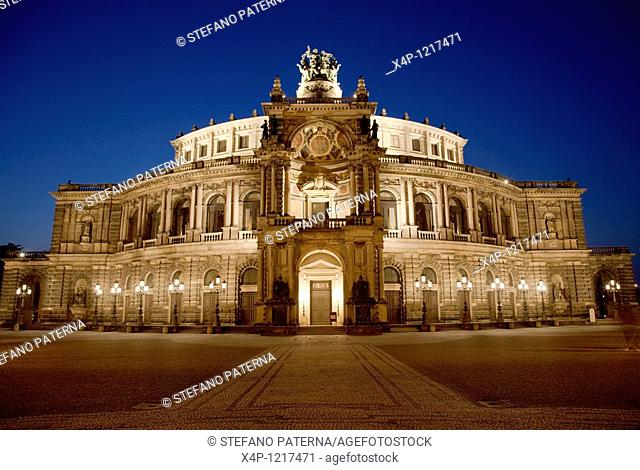 Theaterplatz and Semperoper, Dresden, Germany